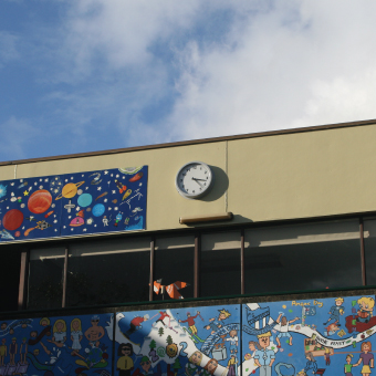 Lindfield School Outdoor Wall Clock